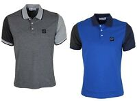 MENS POLO TSHIRT FORAY FORD SHORT SLEEVE DESIGNER TOP BLUE GREY S - L RRP £29.99