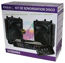 Imperdibile Set completo Karaoke Ibiza Dj300mk2 Ampli Microfono Mixer 2 Casse