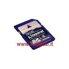 SCHEDA MEMORIA SD HC SECURE DIGITAL KINGSTON 16GB CLASSE 4 ALTA VELOCITA 16 GB