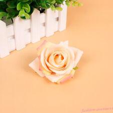 Elegant Big Blooming Rose Flower Wedding Bridal Hair Clip headpiece Brooch Pin