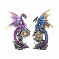 REALM PROTECTORS Set of 2 15cm Dragon Figurine Ornament Nemesis Now - FREE P+P