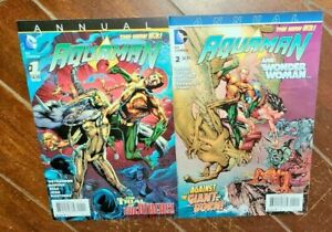 Aquaman Annual #1 & #2, (2013/14, DC): A Choice of Evils/Born of Giants!