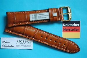 Bracelet Montre Louisiana Croco Veau Marron Moyen 22,20, 19,18, 17,16mm / 94