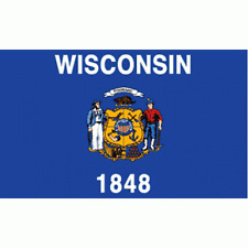 New listing Wisconsin State flag Banner Sign 3' x 5 Foot Polyester With Grommets 1848