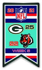 2021 Semaine 5 Bannière Broche NFL Vert Bay Vs.Cincinnati Bengals Super Bol