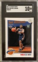 2019-2020 Zion Williamson Hoops Tribute #296 SGC 10