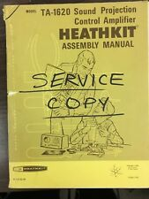 Heathkit TA-1620 original manual fair