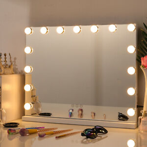Large Hollywood Vanity Mirror Tabletop LED Makeup Mirror Bathroom Wall Mounted