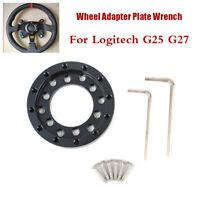 For Logitech Universal G25 / G27 Steering wheel adapter plate 70mm Black