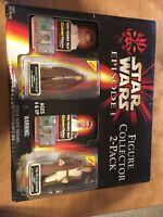 Star Wars Episode I Figure Collector 2-Pack Anakin Skywalker Obi-Wan Kenobi NIB!