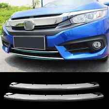 Chrome For Honda Civic 2016-2018 Front Bumper Moulding Cover Trim Grille Cover