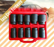 "10 pc pcs 3/4"" Deep Impact Socket Set 24 - 46mm with plastic case"