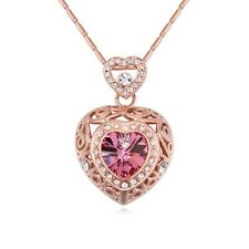 18k Rose Gold Plated Austrian Crystal Z Necklace