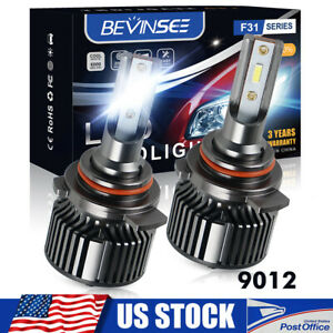 Bevinsee LED Headlights Bulbs For Scion tC 2014 2015 2016 2x 9012 White Lamp Kit