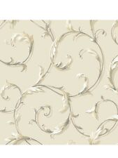 Acanthus Scroll on Beige on Sure Strip Wallpaper AB1962