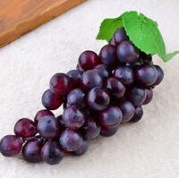 Bunch Lifelike Artificial Grapes Plastic Fake Fruit Home Decoration WG