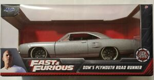 FAST AND FURIOUS DOM'S PLYMOUTH ROAD RUNNER 1/24 JADA VHTF