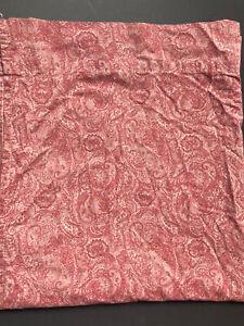 *Retired RALPH LAUREN *FULL FLAT *Monotone PAISLEY RED Sheet Rare! GUC~ Pink
