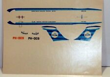 Desk Display Model Aircraft Silk Screen Decal 1/144 KLM DC9 Verkuyl