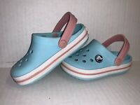 Crocs Slip On Beach Clogs Shoes Infant Girls 20437 Teal Blue Toddler Size C8