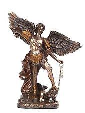 6 Inch Small Saint Michael Archangel Bronze Finish Statue Figurine