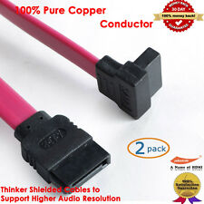 [2-Pack] 45CM Serial ATA SATA DATA HDD Hard Drive Cable(Straight to Right Angle)