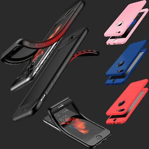 Thin Shockproof Hybrid 360 TPU Gel Cover Case For Apple iPhone 6/6s,7,6 & 7 Plus
