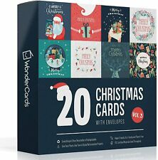 More details for christmas cards pack of 20   eco friendly   plastic free   made in the uk   pack