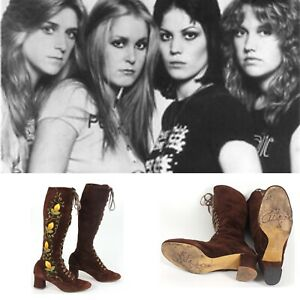 LITA FORD Boots Vintage 60s Gogo Boots Penny Lane Boots RocknRoll Runaways 70s