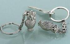 """Gilde Schlüsselanhänger """" Eule """"  matt oder glänzend zur Auswahl,Metall,Geschenk"""