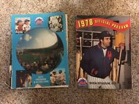New York Mets 1972 & 1978 Game Programs with Scorecards Shea Stadium