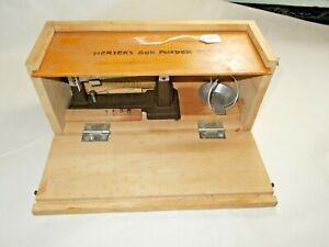 HERTERS Powder Balance Beam Reloading Scale, Since 1893. Waseca, Minn., USA