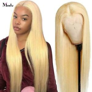 Transparent Blonde Lace Frontal Human Hair Wigs Women Brazilian Straight Wigs