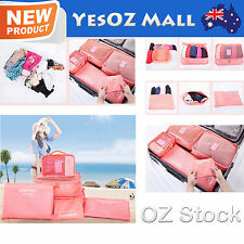 6Pcs Travel Luggage Storage Bag Packing Cube Travel Clothes Tidy Organizer Pouch