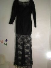 Exquisite Black Gaupure Lace  Evening Gown Size: Small