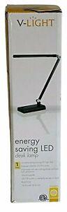 """V-LIGHT LED Energy Saving Desk Lamp, 14.5"""" Tall, Black, VSL392N"""