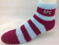 Burnley Football Club Soccer Fuzzy Stripe Sleep Socks