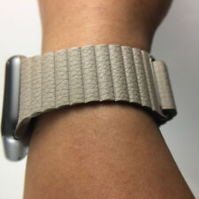 Original Apple Watch Natural Leather Loop Band Magnetic strap 42MM LARGE Genuine