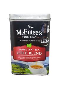 McEntee's IRISH Loose Leaf GOLD BLEND Tea 500g TIN - BLENDED IN IRELAND