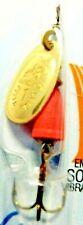 Vintage Blue Fox Vibrax 1/8 oz. Orange Body & Size 1 Gold Blade Fishing Spinner