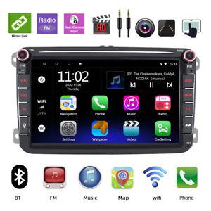 "For VW Volkswagen Jetta Passat 8"" Android 10 Car GPS Stereo Navigation Radio Cam"