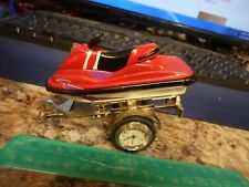 "TOY BOAT SKI-DOO AND TRAILER /4"" X2""-UNIQUE FOR THAT KID WITH SKI-DOO!!"