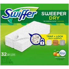 Swiffer Sweeper Dry Sweeping Cloth Refills Febreze Sweet Citrus & Zest 32 Ct