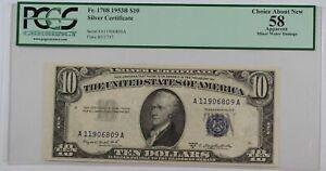 1953-B Ten Dollar Silver Certificate Note FR# 1708 PCGS Choice 58 Apparent (B)