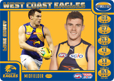 2018 AFL TEAMCOACH TEAM COACH PRIZE CARD WEST COAST EAGLES LUKE SHUEY MINT