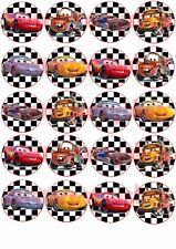 Cialda - Ostia per Cupcakes Cars 3 - 20 Dischetti da 5 cm.per i tuoi cupcakes