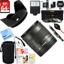 Canon Wide Angle EF-M 11-22mm f/4-5.6 IS STM Lens 7568B002 + 64GB Ultimate Kit
