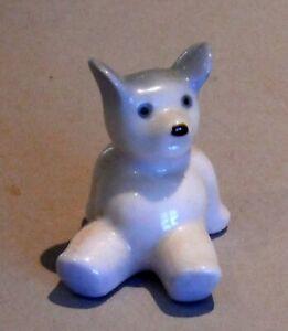 Vintage Occupied Japan Porcelain Miniature Teddy Bear Pink & Lavender P1641
