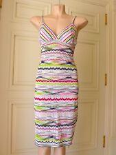 MISSONI Iconic Striped Zig-Zag Pattern Knit Dress w/Straps Size USA 6 (ALTERED)