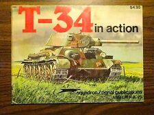 T-34 IN ACTION SQUADRON SIGNAL PUBLICATIONS ARMOR NO. 20 SOVIET TANK WORLD WAR 2